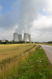 Nuclear power plant. Dukovany Nuclear power station in Czech republic Royalty Free Stock Photography