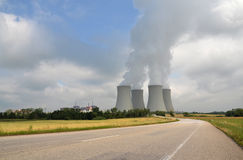 Nuclear power plant. Dukovany Nuclear power station in Czech republic Stock Photography
