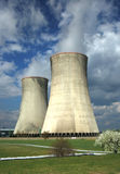 Nuclear power plant. Colling towers nuclear plant Dukovany in Czech republic in Europe. The same type as Czernobyl Stock Images