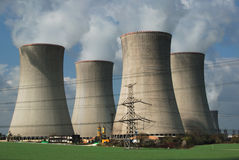 Nuclear power plant. Colling towers nuclear plant Dukovany in Czech republic in Europe. The same type as Czernobyl Stock Photos