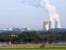 Nuclear power plant. Temelin in Czech Republic Europe Stock Image
