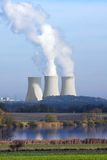 Nuclear power plant. Temelin in Czech Republic Europe Royalty Free Stock Photography
