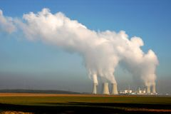 Nuclear power plant. In Dukovany (Czech Republic royalty free stock image