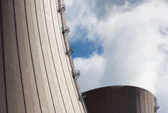 Nuclear power plant against  clouds and sky Stock Image