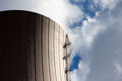 Nuclear power plant against sky Royalty Free Stock Images