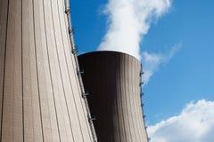 Nuclear power plant against the sky Stock Photos