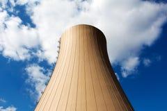 Nuclear power plant against a sky Royalty Free Stock Photos
