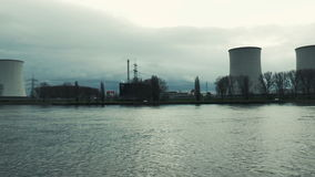 Nuclear power plant Biblis stock video footage
