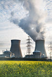 Nuclear power plant biofuel biodiesel energy Royalty Free Stock Photos