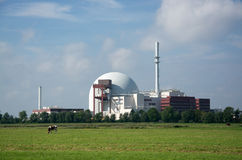 Nuclear Power Plant Brokdorf, Schleswig-Holstein, Germany Stock Images