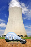 Nuclear power plant Royalty Free Stock Photography