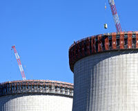 Nuclear Power Plant Construction Royalty Free Stock Photos