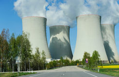 Nuclear power plant coolers Stock Images