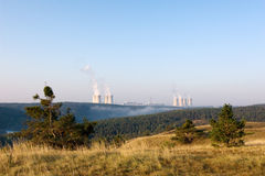 Nuclear power plant at dawn Stock Image