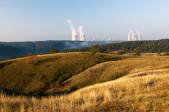 Nuclear power plant at dawn Royalty Free Stock Photography