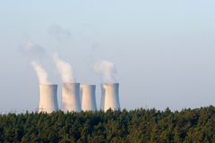 Nuclear power plant at dawn Stock Photography