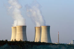 Nuclear power plant at dawn Royalty Free Stock Photo