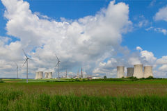 Nuclear power plant Dukovany in Czech Republic Europe Stock Photography
