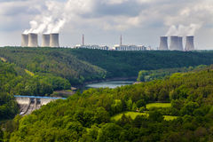 Nuclear power plant Dukovany in Czech Republic Europe, dam Dalesice Stock Images