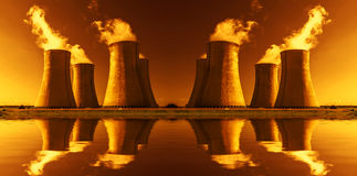 Nuclear power plant Dukovany in Czech Republic Europe Stock Image