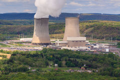 Nuclear Power Renewable Energy Steam Power Royalty Free Stock Images