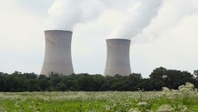 Nuclear power plant stock video footage