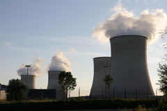 Nuclear power plant Royalty Free Stock Photo