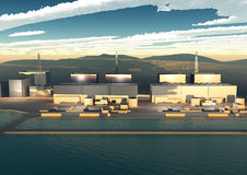 Nuclear power plant Fukushima, Japan Stock Photo