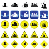 Nuclear power plant graphic vector Stock Photography