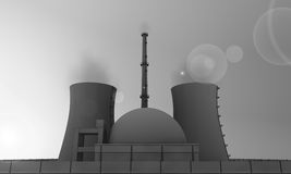 Nuclear power plant in gray Stock Photo