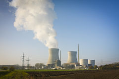 Nuclear power plant Gundremmingen. An image of the nuclear power plant in Gundremmingen Germany Stock Photo