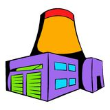 Nuclear power plant icon, icon cartoon Stock Image