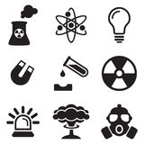 Nuclear Power Plant Icons Stock Photo