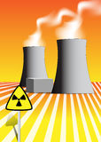 Nuclear power plant illustration Royalty Free Stock Photography