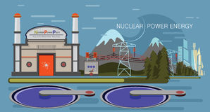 Nuclear Power Plant Royalty Free Stock Images