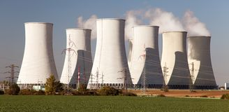 Nuclear power plant Jaslovske Bohunice - Slovakia Stock Photos