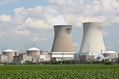 Nuclear power plant near Antwerp. A nuclear power plant near Antwerp, Belgium Stock Images