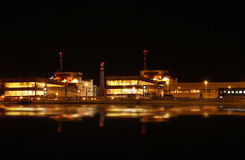 Nuclear power plant at night - Temelin, Czech Republic Royalty Free Stock Image