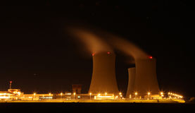 Nuclear power plant at night - Temelin, Czech Republic Stock Images