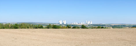 Nuclear power plant panorama Royalty Free Stock Image