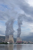 Nuclear Power Plant  Rhone River, Cruas, France Royalty Free Stock Images