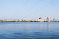 Nuclear power plant in South Ukraine Stock Photography