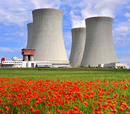 Nuclear power plant Temelin in Czech Republic Stock Photos
