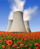Nuclear power plant Temelin in Czech Republic Royalty Free Stock Photography