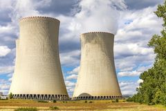 Nuclear power plant Temelin, Czech Republic. Europe royalty free stock image