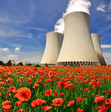 Nuclear power plant. Temelin in Czech Republic Europe Stock Photography