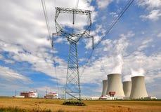 Nuclear power plant Temelin. In Czech Republic Europe Stock Photo
