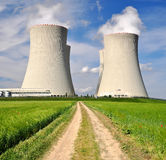 Nuclear power plant. Temelin in Czech Republic Europe Royalty Free Stock Image