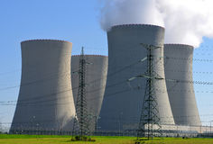 Nuclear power plant. Temelin in Czech Republic Europe Stock Images
