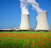 Nuclear power plant Temelin Stock Photos